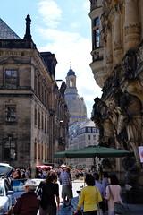 Dresden - street photography -  view of the Frauenkirche (Tango Tango) Tags: dresden germany deutschland sachsen fuji fujifilm xt20 xf1855mm street frauenkirche