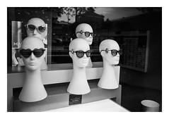 FILM - Sunglasses (fishyfish_arcade) Tags: 35mm analogphotography bw barcelona blackwhite blackandwhite cimko28mmf28 filmphotography filmisnotdead hp5 istillshootfilm monochrome olympusom10 analogcamera film ilford mono sunglasses mannequins ilfordhp5