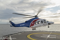 N439BG AgustaWestland AW139 Bristow Helicopters Normand Installer 19.06-19 (rjonsen) Tags: helicopter rotorcraft aviation flying landing helideck boat vessel horizon