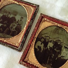 Days at the Seaside (missemorris) Tags: ambrotypes ambrotype victorian oldphotographs gold redandgold seaside family oldfashioned collection