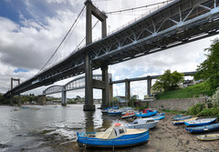 Bridges over the River Tamar, Saltash, Cornwall (Baz Richardson (trying to catch up!)) Tags: cornwall saltash rivertamar tamarbridge royalalbertbridge smallboats