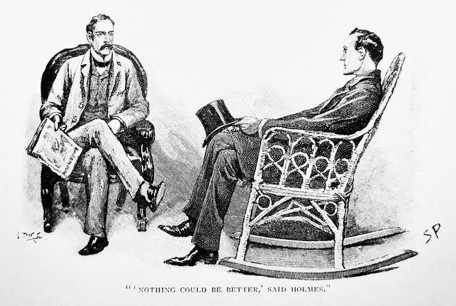 Sherlock Holmes and John Watson - Sidney Paget Book Illustration 1958