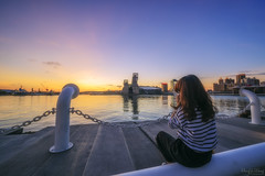 最美的風景 (Hong Yu Wang) Tags: sony a73 a7m3 a7iii sunset kaohsiung port landscape sea goldenhour magichour 1224g sky 台灣 高雄 夕陽 晚霞 港口 高雄港 海音中心