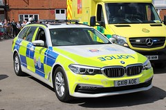 GX18 AOE (JKEmergencyPics) Tags: sussex surrey police bmw 530d 5series estate anpr traffic car rpu roads policing unit 999 emergency vehicle brooklands museum services day 2019