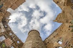Torre Salvana (Santini1972) Tags: fisheye tower abandoned abandonedspain barcelona nikoneurope samyang urbex abandonedplaces sky nadir