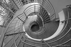Modern Staircase (Sockenhummel) Tags: treppe treppenhaus modern fuji stairwell staircase architektur monochrom railing rund spirale escaliers geländer handlauf schwarzweis schlicht xt10 berlin architecture steps spiralstaircase strairs rehab stufen klinik wendeltreppe reha