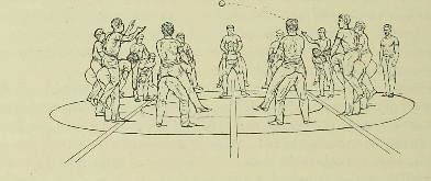 This image is taken from Page 374 of Le maintien et le mouvement sexlatéral et proportionnel de l'homme sain des deux sexes et de tout âge en gymnastique, natation, patinage, escrime, promenade, jeux, cyclisme, canotage, équitati