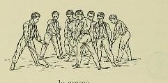 This image is taken from Page 40 of Le maintien et le mouvement sexlatéral et proportionnel de l'homme sain des deux sexes et de tout âge en gymnastique, natation, patinage, escrime, promenade, jeux, cyclisme, canotage, équitatio
