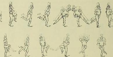 This image is taken from Page 342 of Le maintien et le mouvement sexlatéral et proportionnel de l'homme sain des deux sexes et de tout âge en gymnastique, natation, patinage, escrime, promenade, jeux, cyclisme, canotage, équitati