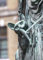 Cat & Fish (Eridony (Instagram: eridony_prime)) Tags: boston suffolkcounty massachusetts charlestown park art publicart sculpture