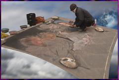 Tappeto volante del madonnaro (bellinipaolo31) Tags: madonnari firenze artisti fc03911 artistiinstrada persone paolobellini italia