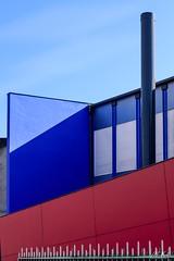 Belfort_0219-5-2 (Mich.Ka) Tags: belfort franchecomte abstract abstrait architecture bâtiment couleur façade graphic graphique industrialdesign ligne line mur town urbain urban ville wall