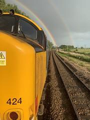 37424 Haddiscoe 20/06/19 (andyk37) Tags: class37 drs 37558 374 haddiscoe shortset rainbow 37424