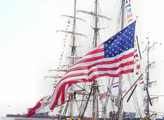 Liberty Tall ships Regatta (Gerard Stolk ( vers le debut duTour)) Tags: scheveningen denhaag lahaye thehague haag usa vlag starsandstripes