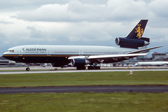 cal dc10 (Martyn Cartledge / www.aspphotography.net) Tags: aerodrome aeroplane air aircraft airline airliner airplane airport aspphotography aviation britishairways caledonian cartledge civilairline civilairliner flight fly flying flywinglets jet martyn plane runway scan transport wwwaspphotographynet wwwflywingletscom uk asp photography