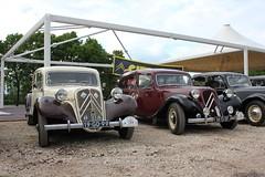 Citroën Traction Avant 11B 1956 (19-GD-99) & Commerciale 1955 (16-15-SF) (MilanWH) Tags: citroën traction avant 11b 1956 11cv twotone 19gd99 commerciale 1955 1615sf