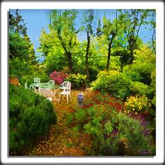 Secret Garden (A Work of Mark) Tags: digitalpainting color flowers garden layers photoshop topazimpressions topazclarity topazsimplify