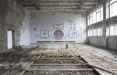 Pripyat Public School № 4 (Sean M Richardson) Tags: abandoned gymnasium pripyat sports gymnastics ghost town chernobyl exclusion zone historic history travel explore urbex canon photography art decay details school 1985