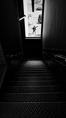 N.I.C. (frax[be]) Tags: streetphotography street window stairs fuji 16mm urban highcontrast noiretblanc monochrome lines noir blackandwhite bnw bw