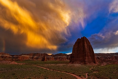 Temple of the Sun (glenn guinita photography) Tags: capitolreef capitolreefnationalpark nps sunset sunrise hiking camping clouds verga trails rocks desert getoutside outdoorphotography photography utah travel adventure travelutah summer rain rainclouds explore exploreutah nationalpark canon canon6d