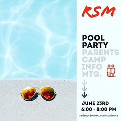 Hey students and parents! Is the pool party/parent meeting on your calendar for this weekend? Students come connect over swimming and a Proverbs devotional. Parents come get the final details and forms completed and notarized for camp. Find out more info (rcokc) Tags: hey students parents is pool partyparent meeting your calendar for this weekend come connect over swimming proverbs devotional get final details forms completed notarized camp find out more info through summer update link redemptionokccomstudents 🏊♂️📋⛺️