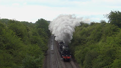 44871 Upton Scudamore (g4vvz) Tags: uk steam engine black 5 44871 railway train rain england wiltshire upton scudamore coaches br british railways west coast wcrc