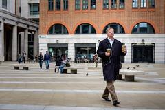 2 Iced Teas (Silver Machine) Tags: london streetphotography street candid man walking icedtea paternostersquare fujifilm fujifilmxt10 fujinonxf35mmf2rwr