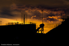 Ending ... (dimitra_milaiou) Tags: sunset city town athens greece view landscape clouds sky home architecture poetry yellow silhouette silhouettes silence travel visit europe live love life living drms dreaming end ending weather black photography nikon d 7100 d7100 milaiou dimitra hellas see lycabettus hill flickrtravelaward