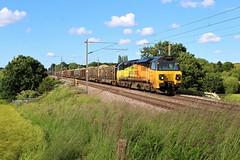 Colas Rail 70801 6J37 at Red Bank (Powerhaul70Pey) Tags: colasrail 70801 70 6j37 carlisle chirk logs freight train locomotive railway rail railroad newtonlewillows redbank