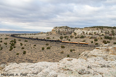 ESWR 602 @ Ambrosia Lake, NM (Michael Polk) Tags: eswr wfa western fuel association escalante railway emd sd40 coal train freight desert new mexico