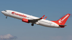 TC-TJI Corendon Airlines Boeing 737-8S3(WL) (°TKPhotography°) Tags: boeing 737 corendon takeoff departure düsseldorf canon dslr 7d planespotting airplane germany photography photo flickr