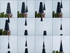 Massive Church fire (2013) (Mari Van Cauteren) Tags: tower church collage belgium westkapelle fire