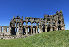 Whitby Abbey (Tony Worrall) Tags: yorkshire yorks scene scenery northyorkshire resort yorkshirephotos east eastern seasidetown holidays tourists coast photographsofwhitby whitbyphotos whitby north update place location uk england visit area attraction open stream tour country item greatbritain britain english british gb capture buy stock sell sale outside outdoors caught photo shoot shot picture captured ilobsterit instragram ruins stone iconic past historic church abbey whitbyabbey englishheritage