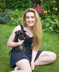 Becca and Milo (littlestschnauzer) Tags: milo becca family pet pets dog garden home small uk june black 2019 schnauzer mini puppy pup