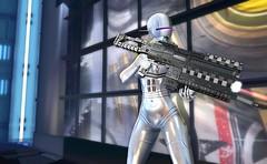 Fighter in the Robot Wars (beccaprender) Tags: catwa catya bento maitreya lara nunox robot cyborg transformation sf cyberpunk nylonoutfitters