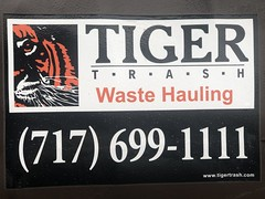 Tiger Trash Sticker (IWS-15) Tags: tigertrashservice tiger tigertrash