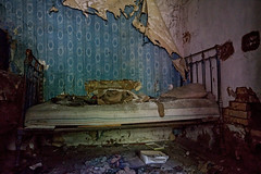 Bedtime (Sarah Marston) Tags: abandoned abandonedplaces chernobyl ukraine bed decay sony a77 pripyat alpha may 2019