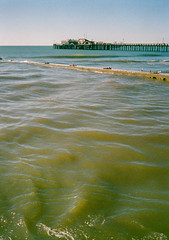 Capitola, California (bior) Tags: capitola california pacificocean ocean shore coast beach santacruz fujicahalf kodakgold expiredfilm pier wharf