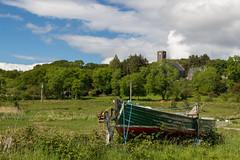 Run Aground (Mac ind Óg) Tags: summer abandoned church scotland arisaig àrasaig green walking boat dinghy highland landscape holiday lochaber