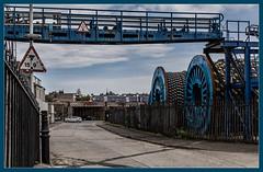 How high? (Blaydon52C) Tags: burntisland fife scotland rail railway class170 dmu railways trains train transport dock blue circles industry docks marine