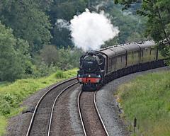 cathex 8424 (m.c.g.owen) Tags: iz24 cathedrals express steam dreams locomotive uk avoncliff bristol london avon valley june 20th 2019 black five 5 lms br 44871 wiltshire british railways stainer standard