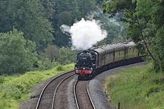 cathex 8423 (m.c.g.owen) Tags: iz24 cathedrals express steam dreams locomotive uk avoncliff bristol london avon valley june 20th 2019 black five 5 lms br 44871 wiltshire british railways stainer standard