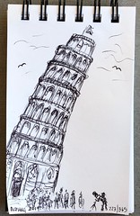 223/365 06/20/19 Leaning Tower of Pisa (Lainey1) Tags: 062019 223 223365 pisa italy leaningtowerofpisa architecture building elainedudzinski lainey1 365 doodle art sketch draw sketchoff girlzsketchy illustration abstract sketching drawing artist sketchbook graphics womensketchshit doodles doodling popart sharpies