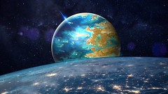 Planet horizon (Iforce) Tags: planet horizon art stars universe cosmos n1ipm awardtree