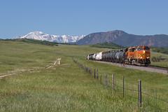 BNSF 5312 Greenland 16 Jun 19 (AK Ween) Tags: bnsf bnsf5312 ge generalelectric c449w greenland colorado jointline pikespeak mountherman rampartrange greenlandopenspace train railroad