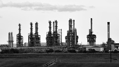 Stacks (chris_m03) Tags: industry landscape bw