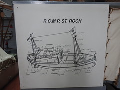 RCMP St. Roch parts labeled (Joel Abroad) Tags: rcmp stroch arctic vessel ship wooden vancouver canada maritime museum nationalhistoricsiteofcanada signage