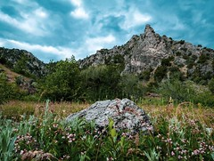 Nice Spot at Green Canyon (Constantine L.) Tags: green canyon logan utah mountain stone grass nature landscape sky clouds rocks