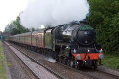 Black Five - 44871 (Signal Box - Railway photography) Tags: outdoor railway railroad ukrailway steam train locomotive engine mainline whitchurch hampshire blackfive 44871 stanier steamdreams lmsclass 5mt steamtrain