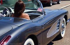 1962 Chevrolet Corvette (Brian Kermath (e.h.designs)) Tags: chevroletcorvette chevrolet corvette vintagecar oldcar classiccars classiccar classic convertible automobile carshow dreamcruise woodwardavenue suburbandetroit detroit michigan detroitmichigan parade carparade flag americanflag blue car road